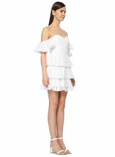 Caroline Constas Kokteyl Elbise Beyaz